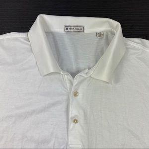 Peter Millar plain white golf polos shirt
